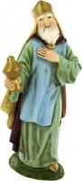 Statua del re magio Melchiorre in resina - cm 16
