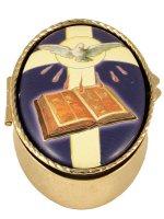 Portarosario ovale Cresima di  su LibreriadelSanto.it