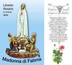Copertina di 'Libretto Rosario con immagine della Madonna di Fatima e coroncina'