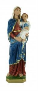 Copertina di 'Statua Madonna con bambino in gesso dipinta a mano - 30 cm'