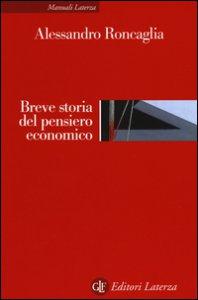 Copertina di 'Breve storia del pensiero economico'