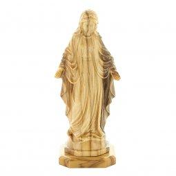 """Copertina di 'Statuetta in legno d'ulivo con base """"Madonna Miracolosa"""" - altezza 11 cm'"""