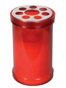 Copertina di 'Mezzo cero liturgico con contenitore in plastica rossa - dimensioni 10,5x6,7 cm'