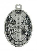 Immagine di 'Medaglia San Benedetto in metallo ossidato - 2,5 cm'