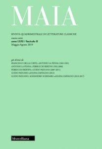 Copertina di 'Maia. Rivista di letterature classiche (2019)'