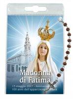 """Blister """"come si recita il rosario"""" Madonna di Fatima con decina"""