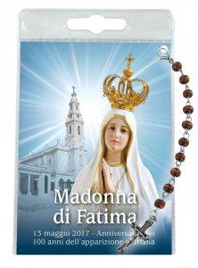 """Copertina di 'Blister """"come si recita il rosario"""" Madonna di Fatima con decina'"""