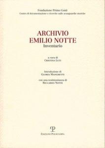 Copertina di 'Archivio. Emilio Notte'