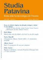 Studia Patavina 2016/1