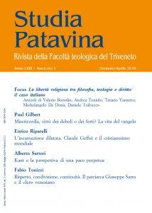 Copertina di 'Studia Patavina 2016/1'