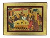 Icona Nozze di Cana, produzione greca su legno - 24 x 18 cm