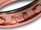 Immagine di 'Fedina rosario argento con bagno oro rosa con crocette mm 27'
