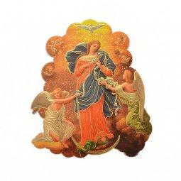 "Copertina di 'Calamita ""Maria che scioglie i nodi"" - dimensioni 7x6 cm'"