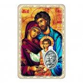 """Card """"Famiglia di Nazareth"""" con preghiera e medaglia - (10 pezzi)"""