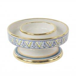 Copertina di 'Portacero in ceramica cm 15 x 8 - Modello Vario e oro'