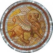Immagine di 'Quadro Evangelista San Marco in legno a cuspide - 10 x 27 cm'