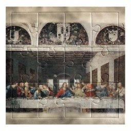 """Copertina di 'Mini puzzle """"Ultima Cena"""" di Leonardo da Vinci - 12 pezzi'"""