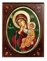"""Icona """"Madonna della carezza"""" (cm 16,5 x 21)"""