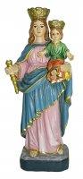 Statua di Maria Ausiliatrice da 12 cm in confezione regalo con segnalibro in IT/EN/ES/FR