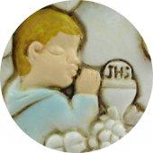 Immagine di 'Bomboniera comunione bambino: Candela in resina altezza 6,5 cm'