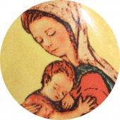 Immagine di 'Medaglia Madonna con Bambino in argento 925 e porcellana - 3 cm'