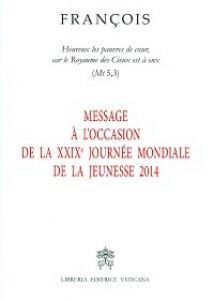 Copertina di 'Message à l'occasion de la 29e Journée mondiale de la jeunesse 2014.'