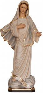 """Copertina di 'Statua in legno dipinta a mano """"Madonna di Medjugorjie"""" - altezza 20 cm'"""