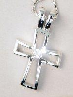 Catenina con croce argento traforata con zircone di  su LibreriadelSanto.it