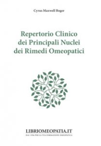 Copertina di 'Repertorio clinico dei principali nuclei dei rimedi omeopatici'