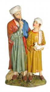 Copertina di 'Uomo e bambino con colomba Linea Martino Landi - presepe da 12 cm'