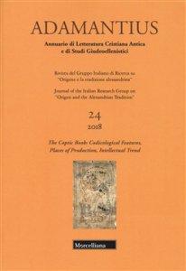 Copertina di 'Adamantius. Notiziario del Gruppo italiano di ricerca su «Origene e la tradizione alessandrina», vol. 24'