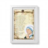 """Quadretto pergamena """"Vivi la vita"""" con passe-partout e cornice minimal - Madre Teresa di Calcutta"""