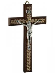 Copertina di 'Croce in legno con corpo in metallo'