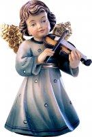 Statuina dell'angioletto con violino, linea da 10 cm, in legno dipinto a mano, collezione Angeli Sissi - Demetz Deur