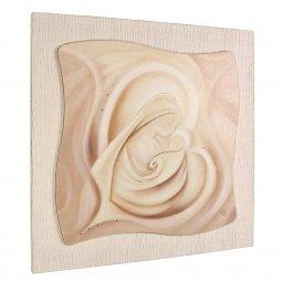 """Copertina di 'Quadro in resina effetto tela """"Madonna col Bambino"""" - dimensioni 49x49 cm'"""