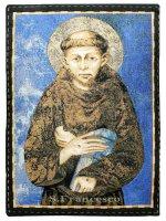 "Arazzo sacro ""San Francesco"" - dimensioni 46x31 cm - Cimabue"