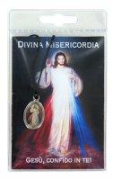 Medaglia resinata Gesù Misericordioso con laccio e preghiera di  su LibreriadelSanto.it