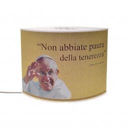 "Copertina di 'Lampada ""Non abbiate paura..."" (Papa Francesco) - dimensioni 20,5x16,5 cm'"