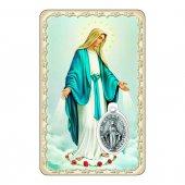 """Card """"Immacolata Concezione"""" con preghiera e medaglia - (10 pezzi)"""