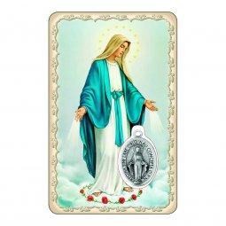 """Copertina di 'Card """"Immacolata Concezione"""" con preghiera e medaglia - (10 pezzi)'"""