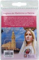 Immagine di 'Calamita Madonna di Fatima in metallo nichelato con preghiera in italiano'