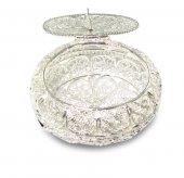 Scatoletta ovale in filigrana argento