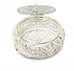 Copertina di 'Portarosario in filigrana d'argento 925 a forma ovale'