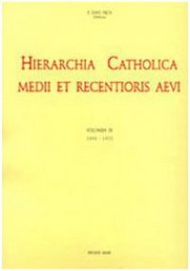 Copertina di 'Hierarchia catholica [vol_9] / 1903-1922'