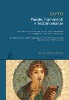 Poesie, frammenti e testimonianze. Testo greco a fronte - Saffo