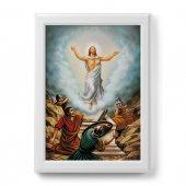 """Quadro """"Risurrezione di Cristo"""" con cornice decorata a sbalzo - dimensioni 50x70 cm"""
