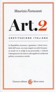 Copertina di 'Costituzione italiana: Articolo 2'