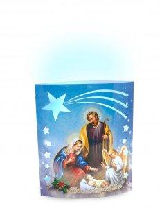 """Copertina di 'Lampada a led """"La Gioia del Natale"""" - altezza 15 cm'"""