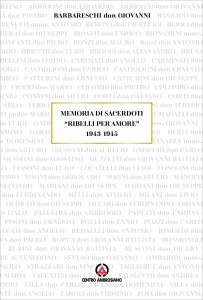 Copertina di 'Memoria di sacerdoti «ribelli per amore»'