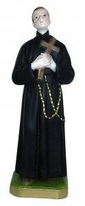 Copertina di 'Statua San Gerardo in gesso madreperlato dipinta a mano - 30 cm'
